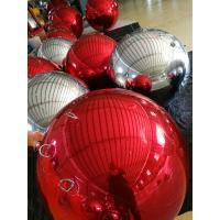 Best PVC Red Inflatable Mirror Ball , Christmas Inflatable Decorations Balloon For Event wholesale