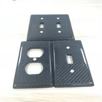 China Furniture Industry Usage Carbon Fiber Light Switch Cover 3K Twill Glossy Finish on sale