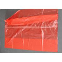 Quality Plastic Water Soluble Dissolvable Washing Bags / Disposable Laundry Bags Red Color for sale