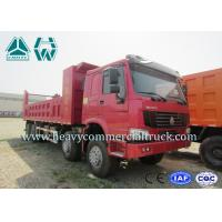 Quality 8 × 4 High Tension Hydraulic Cylinder Mining Dump Truck , Coal Mining Trucks for sale
