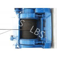 Quality Mining Underground Hydraulic Crane Winch High Strength Steel With Bule / Yellow Color for sale