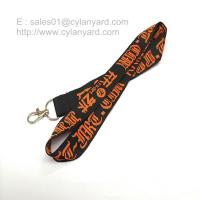 Quality Wholesale woven lanyard with embroidered logo and metal clip for sale