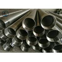 Buy cheap Stainless Steel 205 / 304 / 316 / 316L Slot Water Well Johnson Screen Pipe V from wholesalers