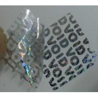 Quality Void Self Adhesive Hologram Security Labels Environmentally Friendly Material for sale