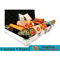 China 10,000Pcs 11.5g Clay Poker Chip Sets With Aluminum Case For Gambling Games on sale