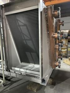 Quality 3500m3/H Corrugated V Type Dry Air Cooler Chiller PLC Controlled for sale