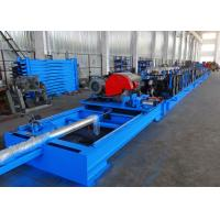 Quality Self Seamed Step Rack Roll Forming Machine With Flying Saw Cutoff for sale