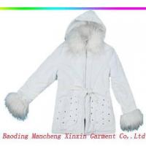 Quality Ladies' fashion PU coat for sale