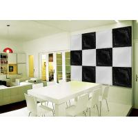 Quality Black & White Square PU 3D Decorative Wall Panel 500mm * 500mm for sale