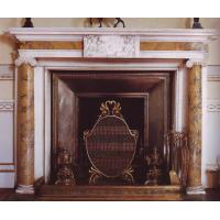 Quality Multi-colour stone fireplace mantel for sale