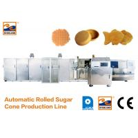 Quality Eco - Friendly Ice Cream Cone Production Line High Speed 400 Standard Cones / Hour for sale