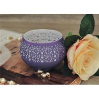 Best Colored Ceramic Pumpkin Candle Holder Anti Impact SGS Certification wholesale