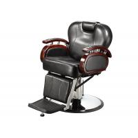 Quality Reclining Backrest Salon Barber Chair Brown With PU Leather Materials 48.5 KGs for sale