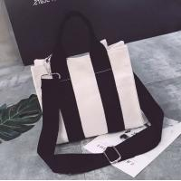 Quality Wholesale Can Logo Printed Fashion Canvas Shopping Crossbody Bag for sale
