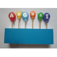 Best Flameless Skinny Letter Birthday Candles Balloon Shape For Cake Decorative wholesale
