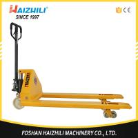 China Haizhili pallet jack large capacity hydraulic hand pallet truck 5000kg with 685mm fork outer width on sale