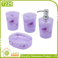 Bright Color Starfish Bathroom Accessories Set Trumpet Shell Plastic Bathroom Sets