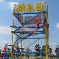 Quality Sports Entertainment Outdoor Playground Climbing Frame with Single-rope Handrail to Walk for sale