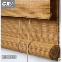 Quality Slat Outdoor Roll Up Bamboo Blinds Weaving With Raffia Compact Framework for sale