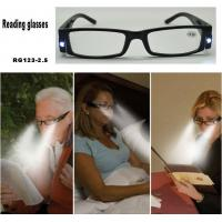 China Reading glasses with LED light on sale