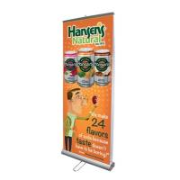 Quality Aluminium Alloy Double Sided Pull Up Banner 85×200 cm With Nylon Travel Bags for sale