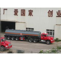 China 3 axles Chemical transport hydrochloric acid phosphoric acid sulfuric acid tanks truck trailer plastic lining factory sa on sale