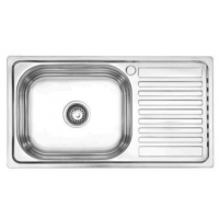 Buy cheap 76*42CM satin or plating single bowl single drain kitchen sink home kitchenware from wholesalers