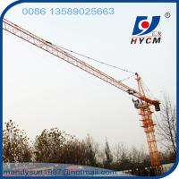 Quality 6 ton 56 m Boom Construction Building Self Erecting Hammer Head Tower Crane for sale