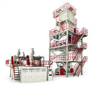 Quality 700-1200 Twisting Resistant Plastic Film Blowing Machine POF Heat Shrink 30-60 Ton for sale