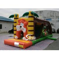 Quality Cartoon kids Bouncy Castle Inflatable jump house with slide For kids Inflatable Game for sale