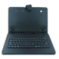 China Black Color 9 - 10 Inch Tablet Bluetooth Keyboard Case With PU Leather Cover on sale