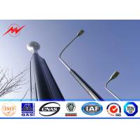 Quality Round / Octagonal 8m Hot Dip Galvanized Street Light Poles With 30w LED for sale