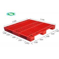 Quality Racking Design Euro Plastic Export Pallets Single Faced Reinforced Rectangle Grid for sale