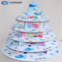 China Decorative Cardboard Cupcake Stand 5 Tiers Varnish Coating For Cake Shop on sale