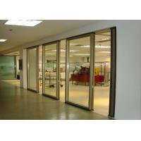 Quality Office Folding Glass Block Partition Walls 680 / 1230 Width 2000 / 4500 Height for sale