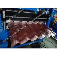 Quality Industrial Metal Glazed Tile Roll Forming Machine 2 - 4m / Min Forming Speed for sale