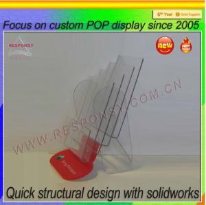 China Acrylic brochure display/brochure display stand/brochure display holder on sale