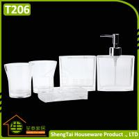 Best Elegant European Design Popular White Transparent Bath Gift Set wholesale