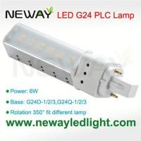 Quality 6W G24 Lamp Base PLC LED Light Bulb replace 13W CFL for sale
