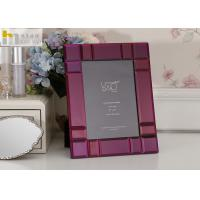 Quality High hardness mirrored glass picture frames , Morden a4 glass certificate frames for sale
