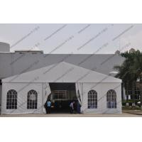 Quality White Color Aluminum Big Builders Warehouse Tents With Soft PVC Fabric Windows for sale