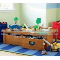 China Tables of wooden toys, wooden storage toy table, wooden storage table, wooden table on sale