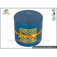 Quality Round Candle Packaging Paper Tube Hot Stamping Surface Finishing Cylinder Box for sale
