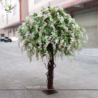 Quality UVG CHR047 wedding decoration Artificial Wisteria Blossom Tree indoor use 8ft high for sale