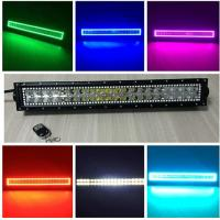 China Tracing halo RGB 120W 22-inch straight LED light bars with controller on sale