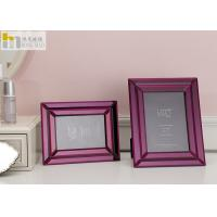 Quality Mirror Glass Wall Art Picture Frame / Horizontal 5x7 Picture Frames For Hotel for sale