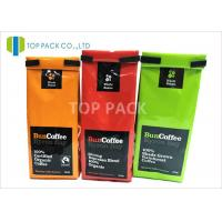 Best Block Bottom Easy Open Side Gusset Bags Tin Tie Foil Laminated Glossy Finished wholesale