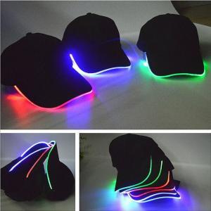 Quality Flashing Adult Cotton Unisex Baseball Caps Shining LED Light Adjustable Bone 3 Colors for sale