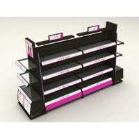 China Stainless Steel Cosmetic Display Shelves With Light Box Customized Shape on sale