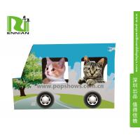 Best Indoor Corrugated Cardboard Furniture Kitty House Cat Bus Environmental wholesale